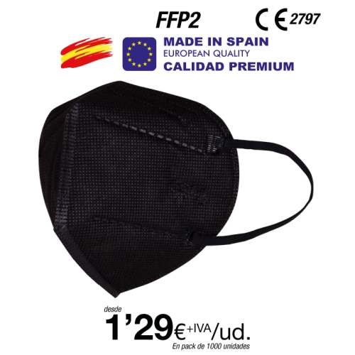 Mascarillas Negras FFP2 Made in Spain